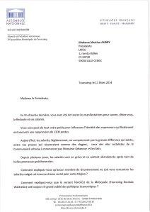 Lettre Mme Martine Aubry_11032014_La Redoute_p1