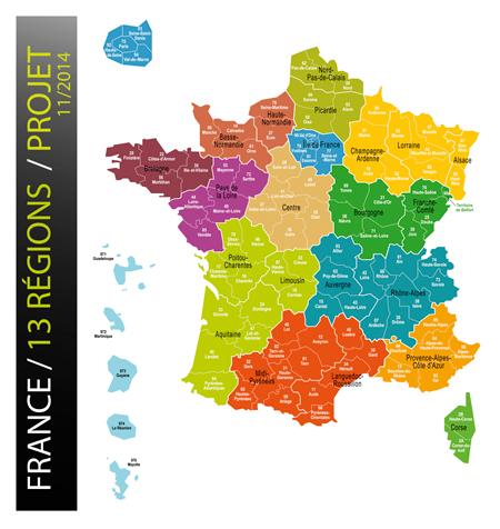 Photo carte nouvelles régions
